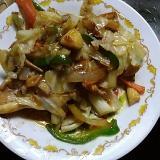 回鍋肉の元でニンニクと豚野菜炒め