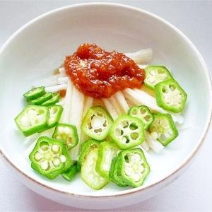 オクラと長芋の梅サラダ