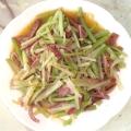 うどとベーコンの柚子胡椒ソテー