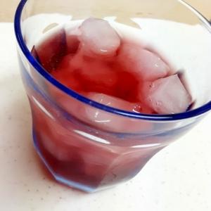ソルティライチ(^^)赤ワインのアイシィカクテル♪