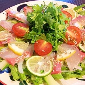 海の幸と香味野菜のサラダ★アジアンドレッシングで