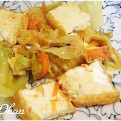 ピリ辛☆キャベツと厚揚げの炒め煮