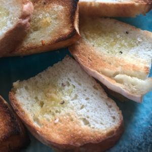 ハーブ岩塩で♡ガーリックトースト