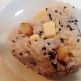 ごま塩で ❤プロセスチーズと甘栗の雑穀おにぎり❤
