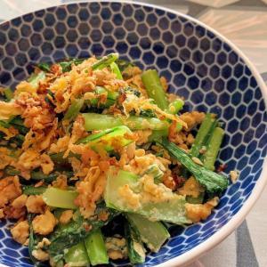 小松菜と玉子の中華炒め