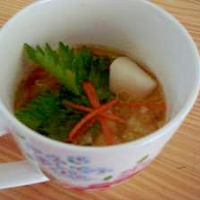 かぶと白菜の簡単スープ