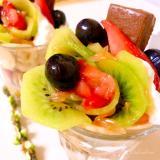 栄養補給ができる♪バレンタインフルーツミニパフェ
