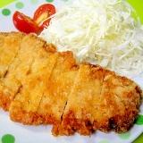 鶏がら塩糀スープの素で☆にんにく風味のとんかつ