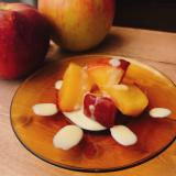 フライパンで焼きリンゴ 〜アングレーズソース添え〜