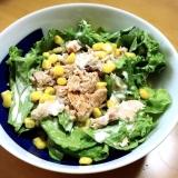さけの中骨水煮の缶詰で簡単レタスサラダ