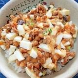 納豆の食べ方-ゆでたまご&梅干♪