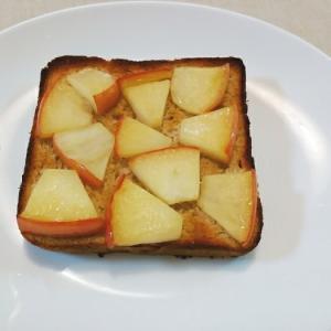 林檎バターソテーのトースト