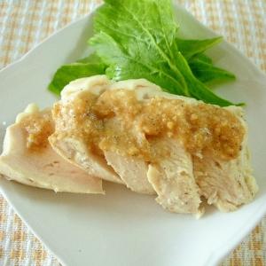 ☆鶏ムネ肉のごま味噌ソースかけ☆