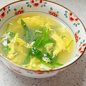 ほうれん草&卵の春雨スープ