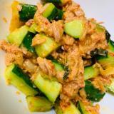 簡単美味しい‼キムチときゅうりとツナのサラダ♡