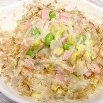簡単☆ねっとりヘルシー♪パステル色の和風里芋サラダ