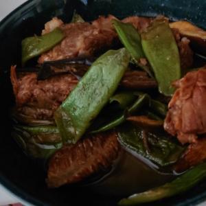 豚肉インゲン炒め煮