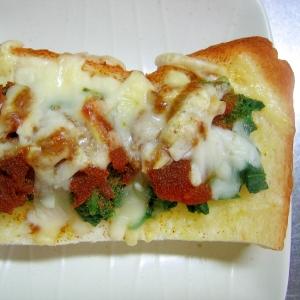 ほうれん草&福神漬けのカレーチーズトースト