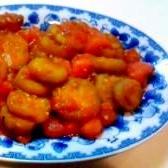 ナスとトマトの中華風炒め
