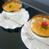 モモ缶シロップで作る 超簡単 桃のヨーグルトゼリー
