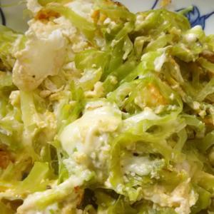 キャベツとチーズの卵炒め(^^)
