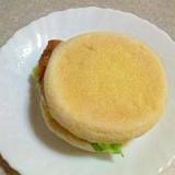 イングリッシュマフィンを使ったハンバーガー