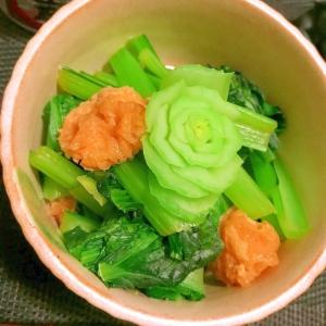 フライパンでチャチャッ!小松菜とお揚げのサッと煮