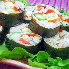 ☆サンマの炊き込みご飯で作る我が家特製の巻き寿司♪