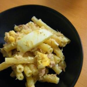 手軽でおいしい、ゆで卵のマカロニツナ