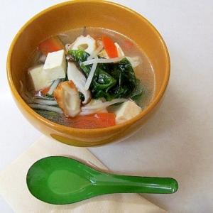 *ちくわともやしの中華スープ*