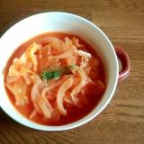 トマトジュースと豆乳の簡単野菜たっぷりスープ