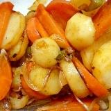 ジャガイモと人参とピーマンと玉ねぎの炒め煮