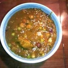 豆と野菜たっぷり☆彩りキーマカレー