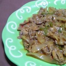 豚肉のスイートチリ炒め(カロリーカット方で)
