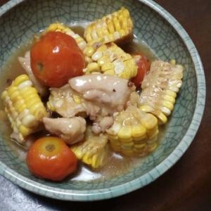 夏野菜と鶏肉の煮浸し