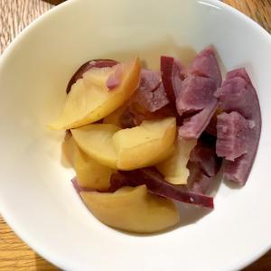 リンゴと紫サツマイモの簡単サッパリ水煮