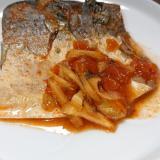 鯖のコチュジャン煮付け
