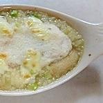 残りの鍋の鶏のスープ!長芋のリゾットです