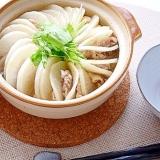 ほんのり辛い♪大根と豚肉のミルフィーユ鍋