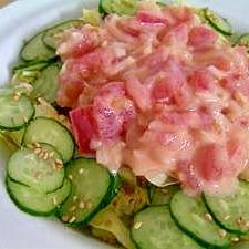サラダに 新玉葱で*トマト&オニオンマヨソース*