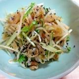もやし、みず菜、ザーサイの中華風和え