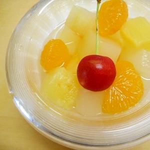 冬瓜とフルーツ缶のおやつ