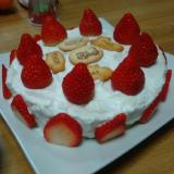 HMと水切りヨーグルトで作るショートケーキ