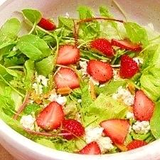減塩☆イチゴとチーズのベジサラダ