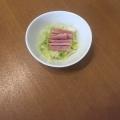 ズボラおつまみ♪白菜とロースハムのヘルシーサラダ