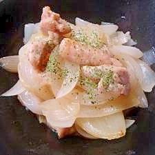 タマネギと鶏肉のレモンガーリック炒め