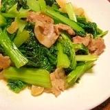 雪菜と豚肉の炒め物