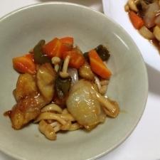 鶏肉・ブナピー・野菜の照り焼き