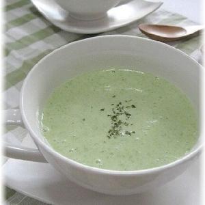 ねばとろオクラとヨーグルトの冷製スープ