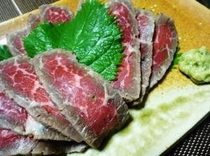牛肉のたたき(塩麹漬け)